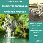 [Familia  irteera]  Zirauntza  iturburua  eta  Mitxarroko  museoa